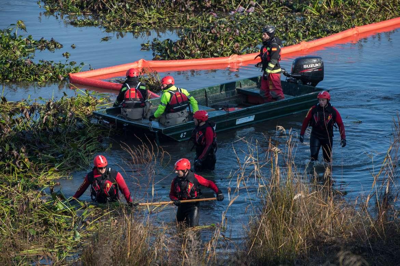 La UME pondrá punto final a la Operación Medioambiental Extremadura de retirada de camalote en el río Guadiana