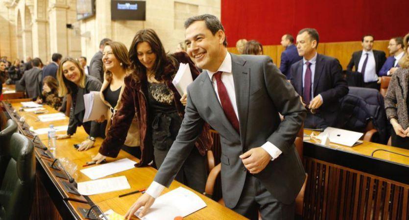 Juanma Moreno, nuevo presidente de la Junta de Andalucía con los votos del PP, Ciudadanos y VOX