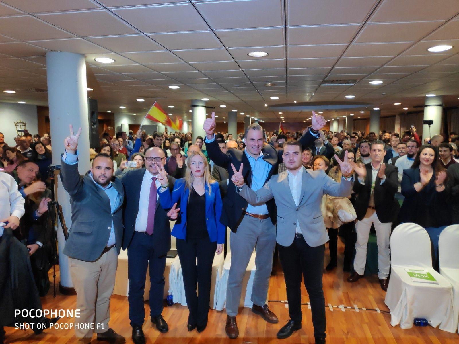VOX se presenta en Cáceres ante 500 simpatizantes, con la esperanza de dar la sorpresa en las próximas elecciones