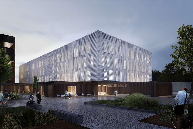 La nueva Facultad de Medicina será un edificio respetuoso con el medioambiente y con una arquitectura de vanguardia
