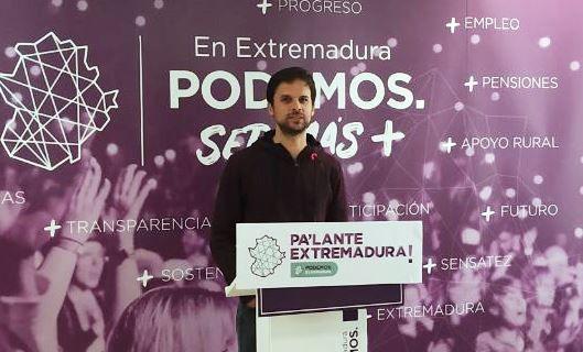 """Álvaro Jaén: """"Si Vara tiene la oportunidad de gobernar con la derecha en Extremadura, lo va a hacer"""""""