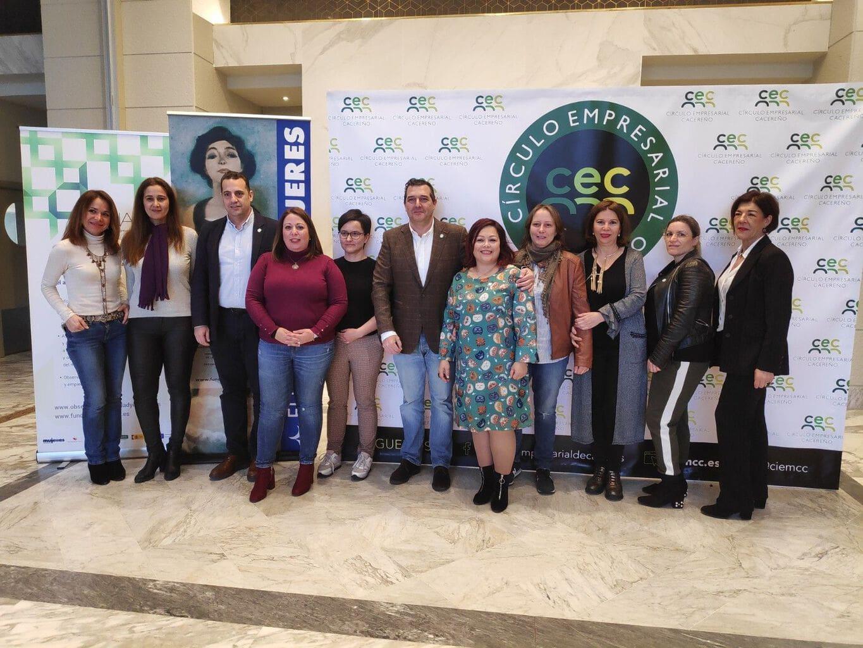 Fundación Mujeres y Círculo Empresarial Cacereño firman un convenio para visibilizar la labor empresarial de las mujeres