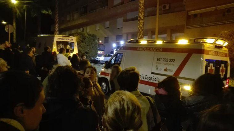 Doce heridos en un incendio producido en una vivienda de Almendralejo