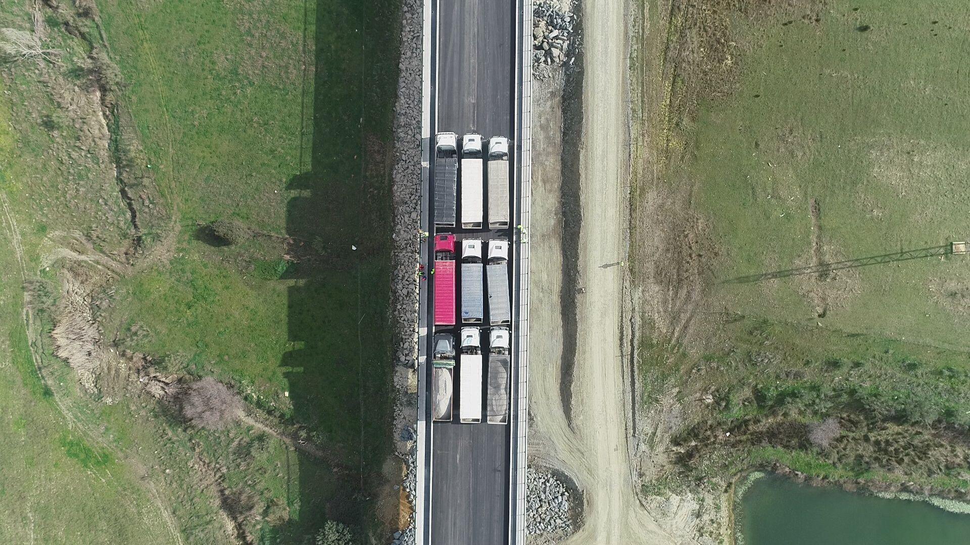 Se lleva a cabo  la prueba de carga del viaducto sobre el arroyo de Valdelinares en el tramo Estación de Plasencia Plataforma