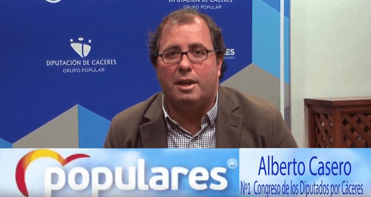 Entrevista a Alberto Casero, candidato nº 1 del Partido Popular al Congreso por Cáceres
