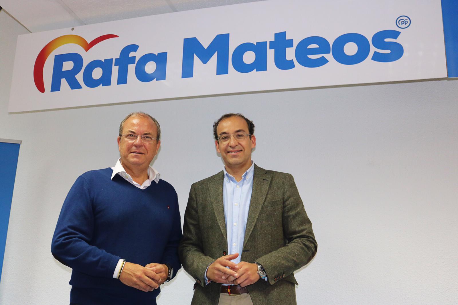 """Monago : """" Rafa Mateos viene aprendido y con el  compromiso para hacer más grande a Cáceres"""