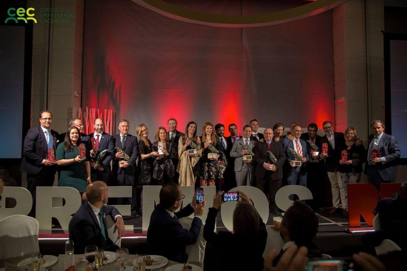 Gran éxito de la II Gala Red Empresarial celebrada en Cáceres