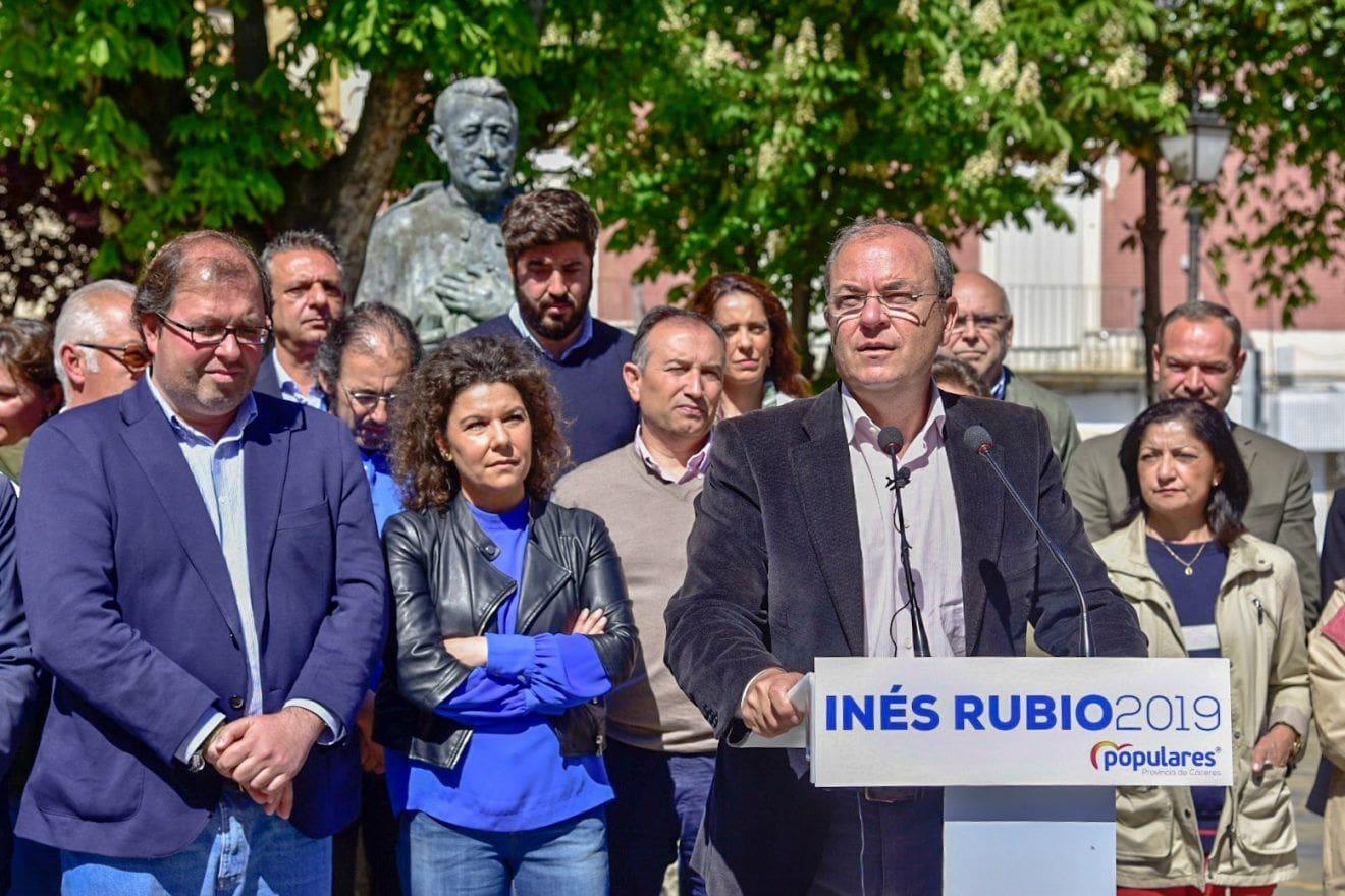 """Monago: """"El mejor negocio para Trujillo es que el PP gane las elecciones generales, autonómicas y municipales"""""""