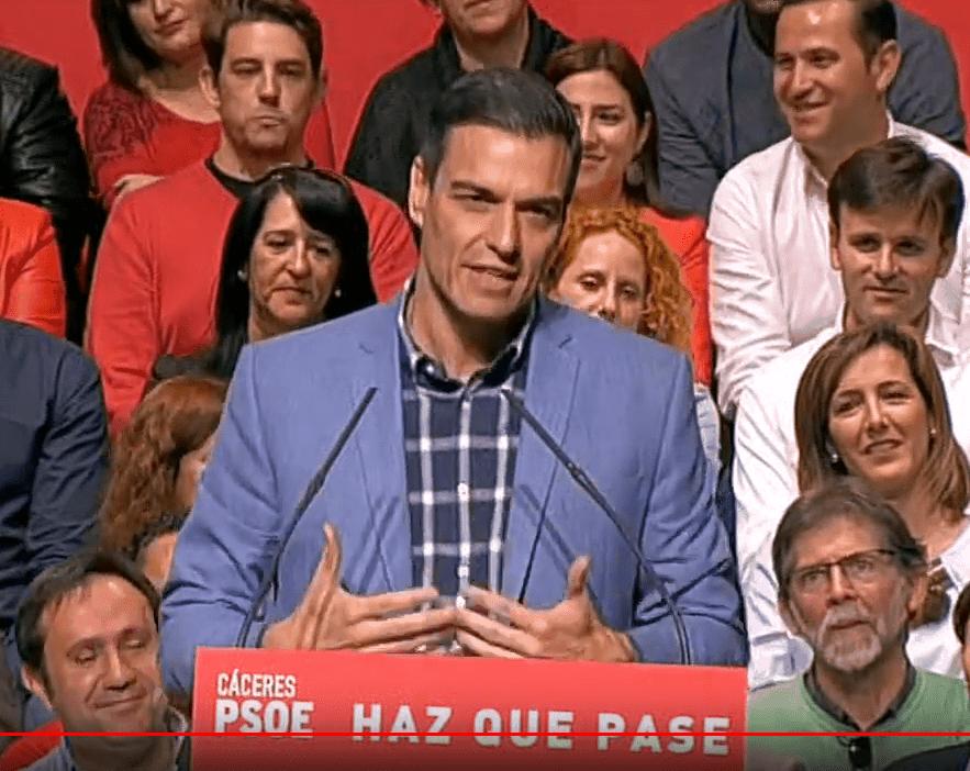 Pedro Sánchez hará campaña en Badajoz el próximo 24 de abril