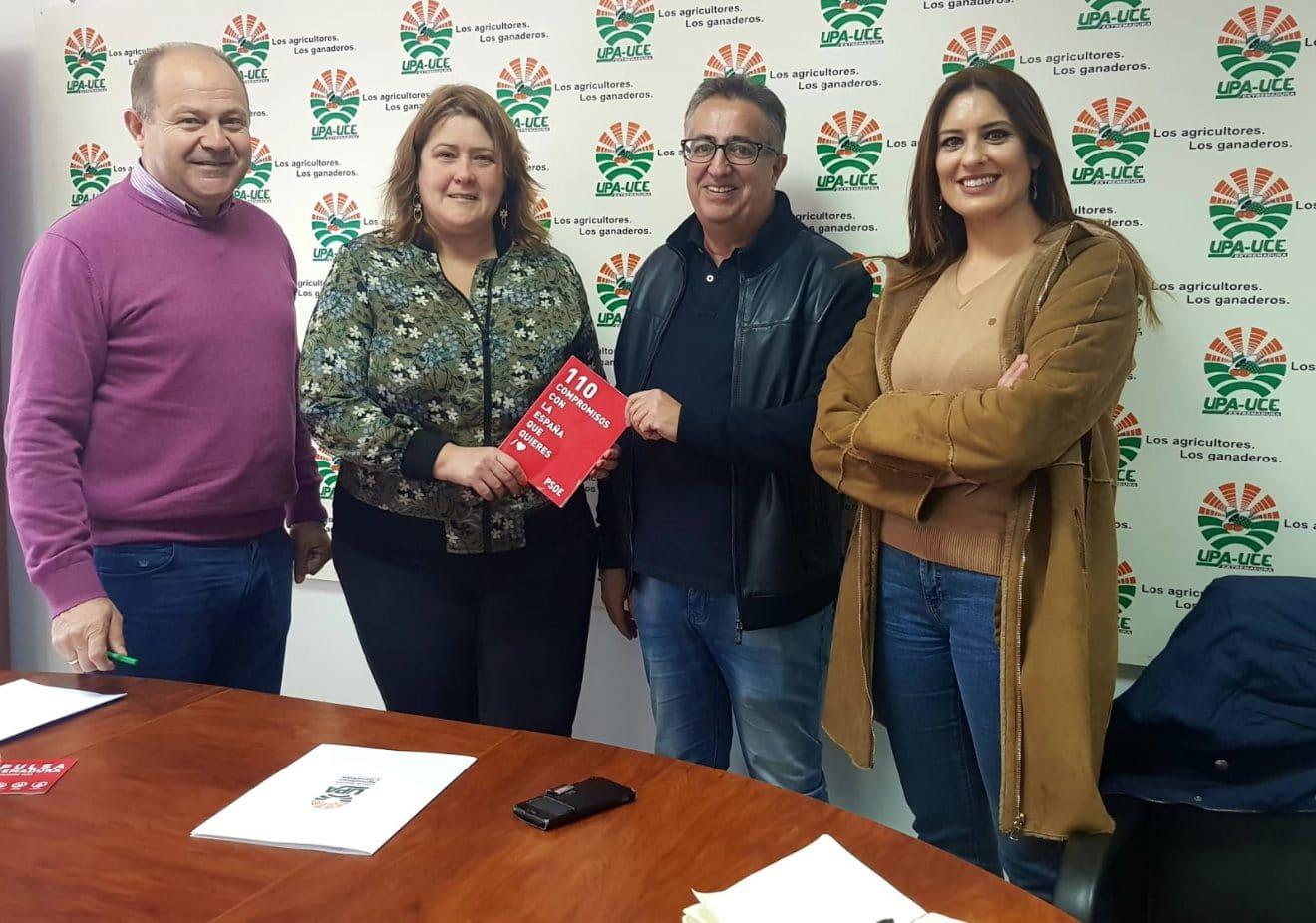 UPA-UCE PROPONE AL PSOE ELABORAR UNA LEY PARA PROTEGER LA AGRICULTURA FAMILIAR