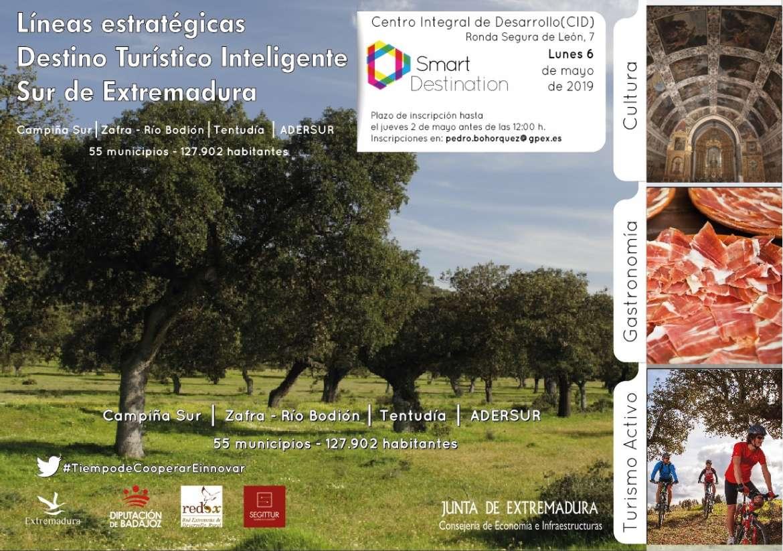 Dos jornadas sobre las Líneas Estratégicas para Destinos Turísticos Inteligentes en Plasencia y Monesterio
