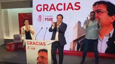 El PSOE renueva la dirección de la Junta de Extremadura al ganar por mayoría absoluta