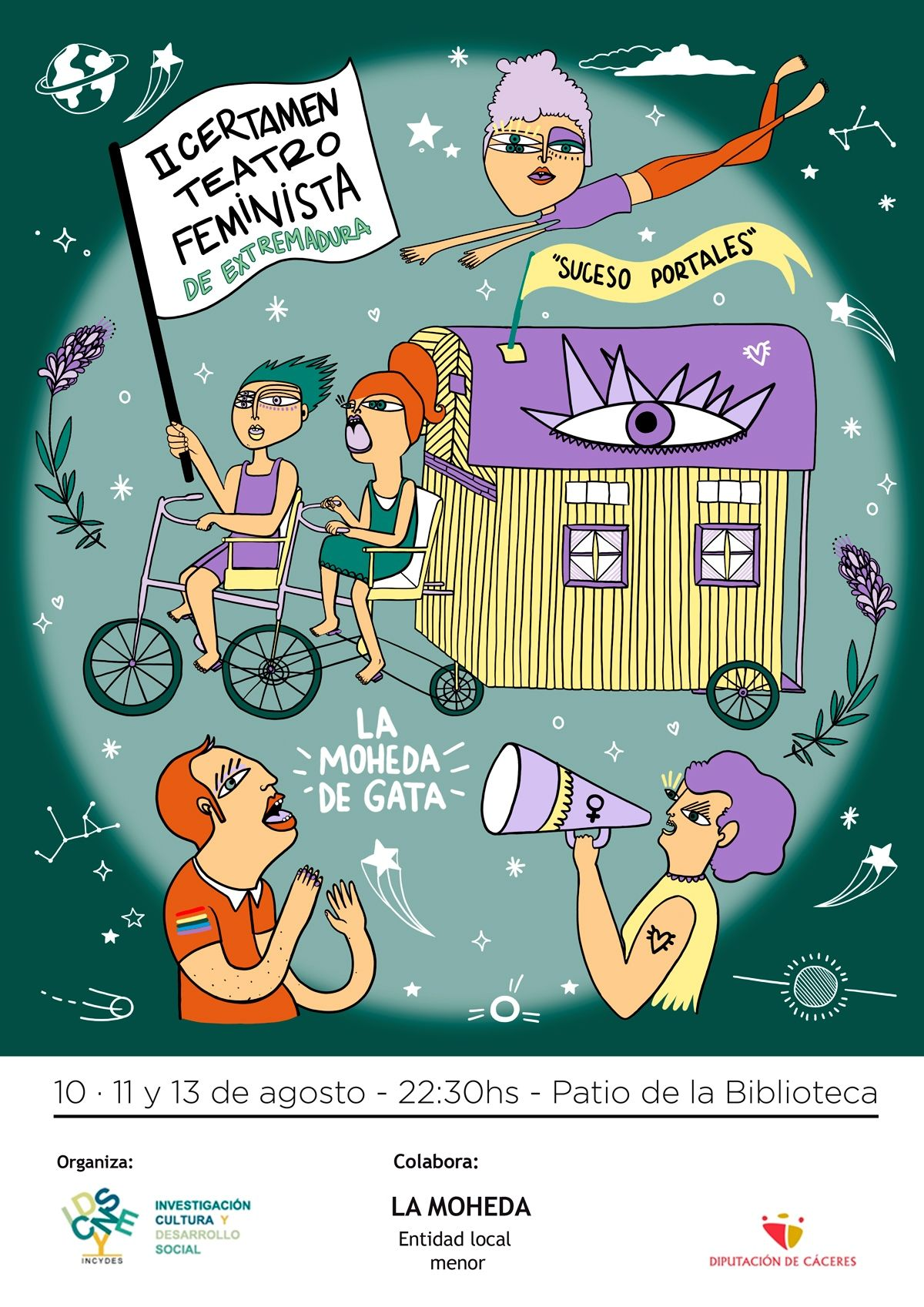 """II Certamen de Teatro Feminista """"Suceso Portales"""" en La Moheda de Gata"""