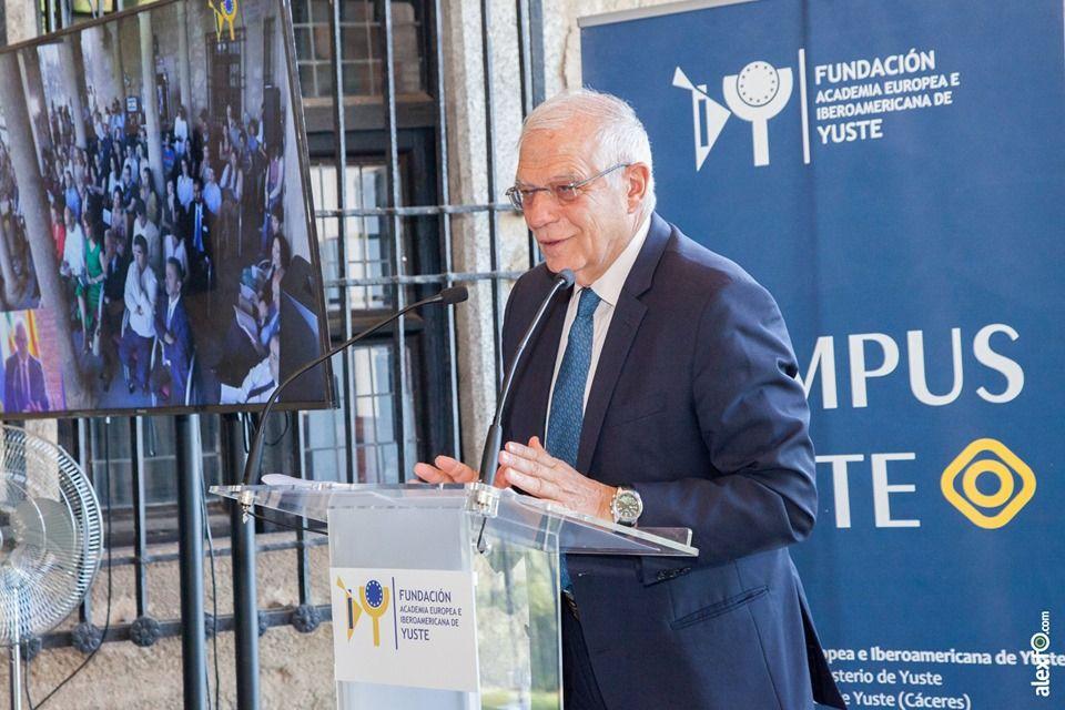 Borrell en Yuste: La Unión Europea debe ofrecer a sus ciudadanos bienes públicos que solo podemos alcanzar cooperando entre europeos