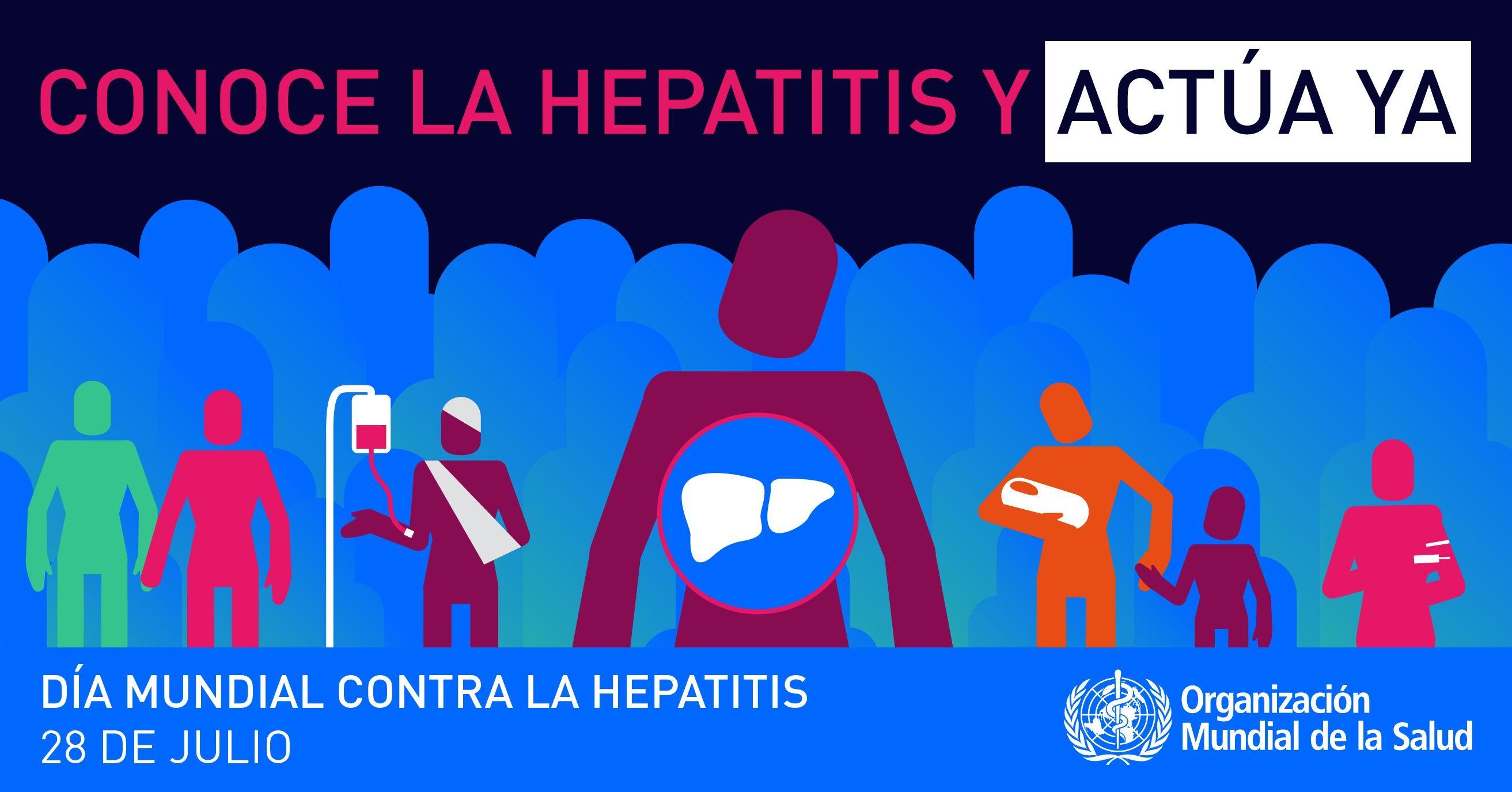 Este domingo, 28 de julio, Día Mundial de la Hepatitis