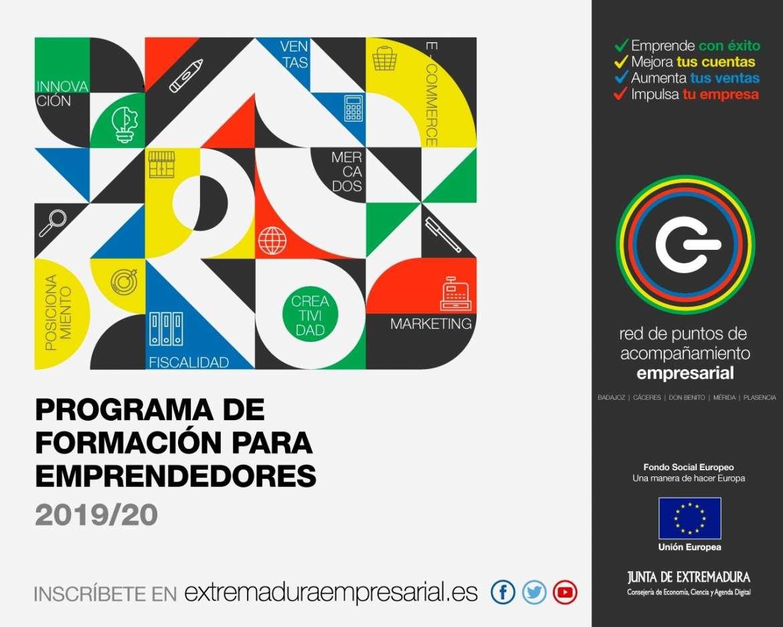 El Programa Formativo para Emprendedores y Empresas de Extremadura tendrá lugar de octubre 2019 a marzo 2020