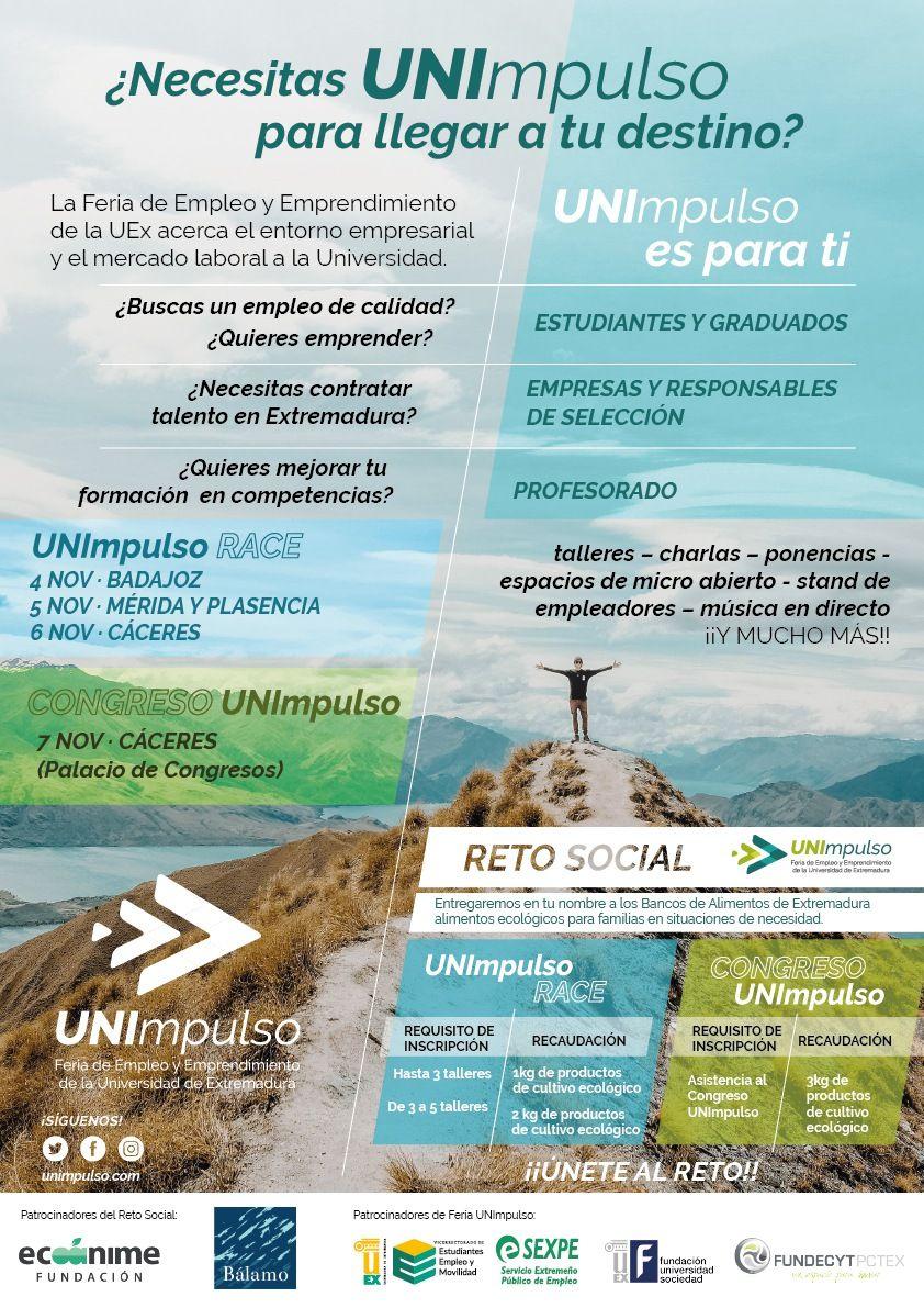 UNImpulso, la Feria de Empleo y Emprendimiento, feria organizada por la UEx para establecer lazos y sinergias laborales