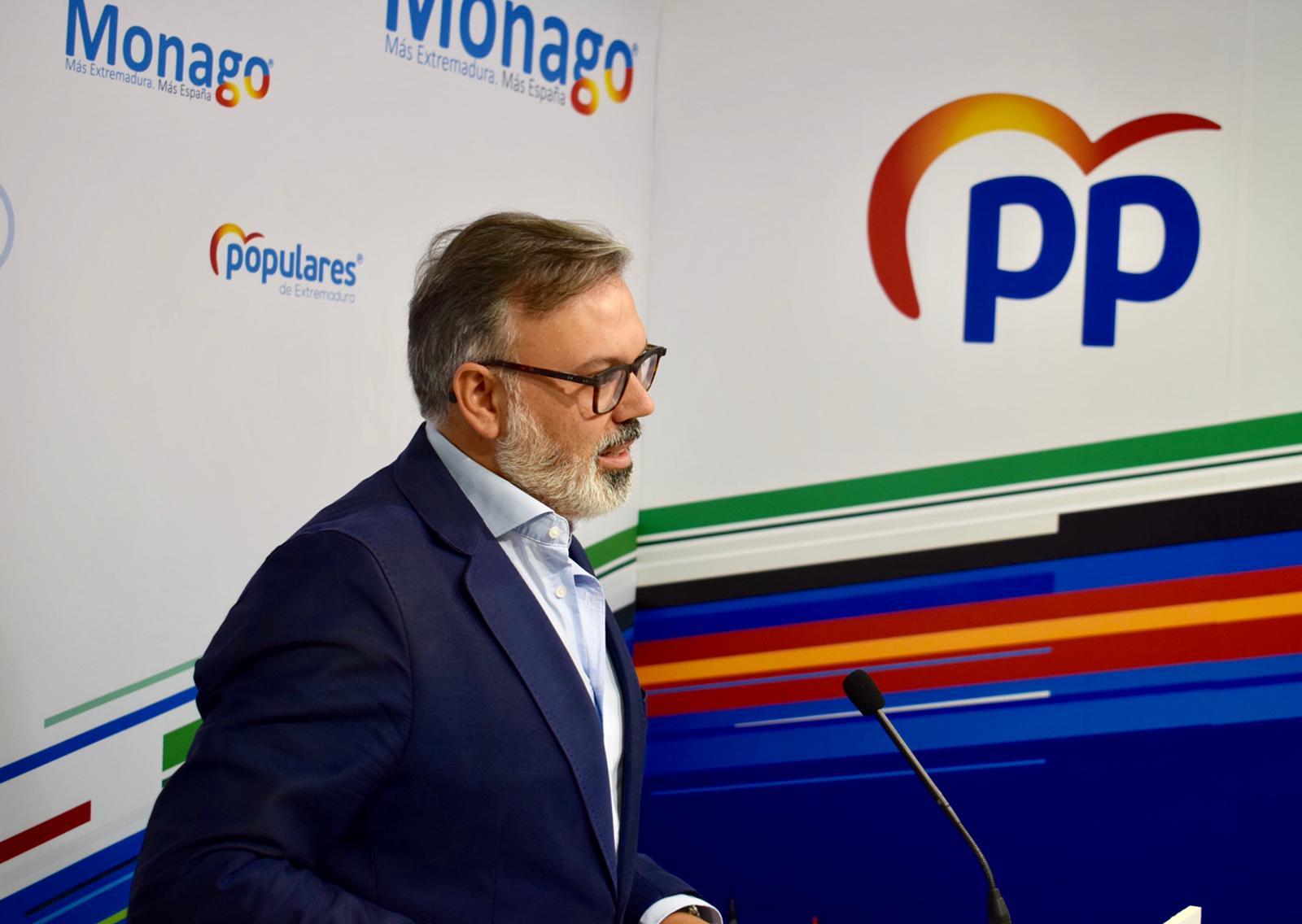 El PP critica a Vara por no pedir ahora el plan de empleo de 460 millones de euros que sí pedía a Rajoy