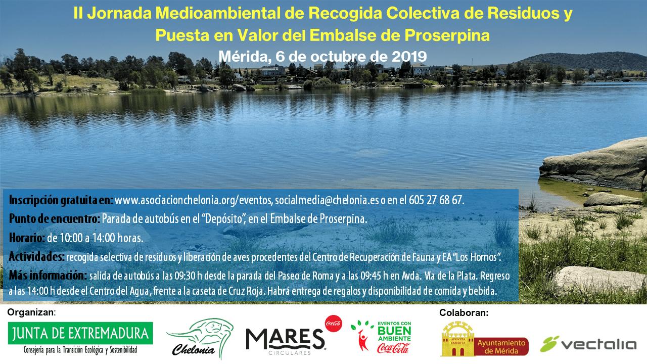 II Jornada Medioambiental de Recogida Colectiva de Residuos en el Embalse de Proserpina