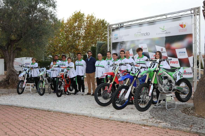 Se presenta la Selección Extremeña de Motocross