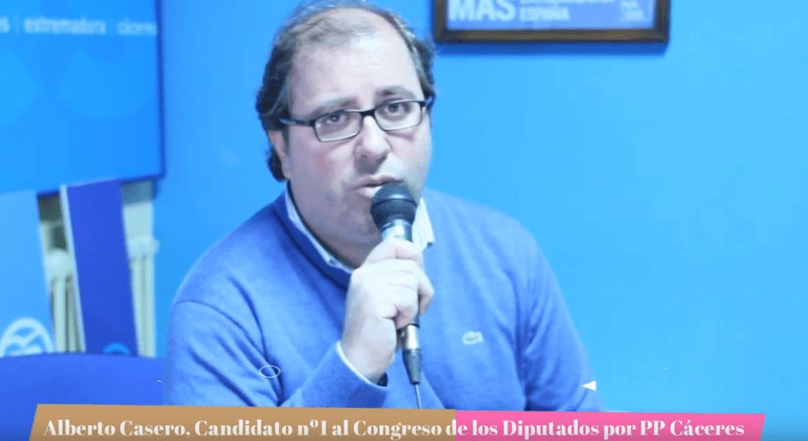 ESPECIAL ELECCIONES 10N: Entrevista con Alberto Casero, candidato nº 1 del Partido Popular al Congreso de los Diputados
