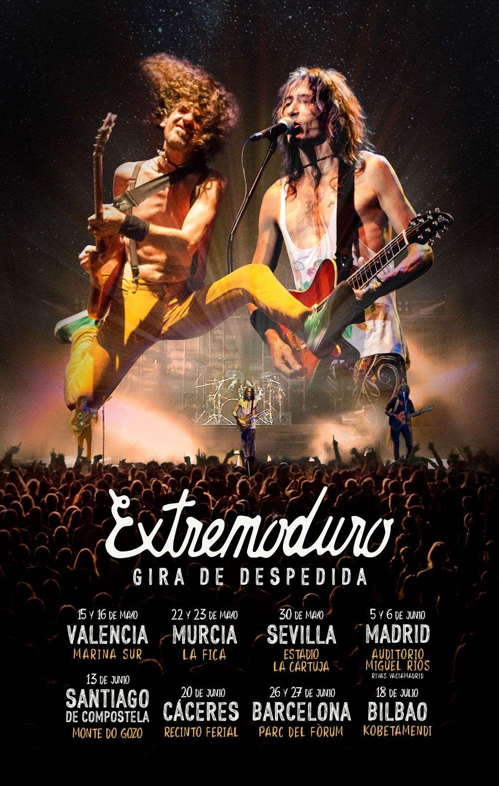 Extremoduro anuncia su gira de despedida con la que visitará Cáceres el 20 de junio del 2020