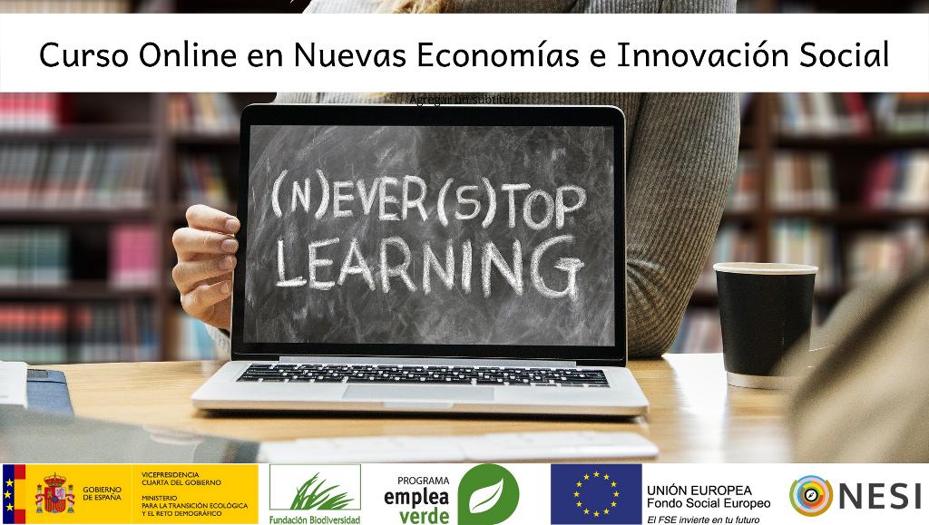 ¡Oportunidad formativa! Curso online gratuito sobre  Nuevas Economías dirigido a la ciudadanía extremeña