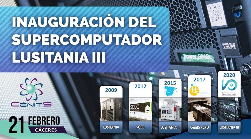 El nuevo Supercomputador de Extremadura, LUSITANIA III se pondrá en marcha el próximo 21 de febrero