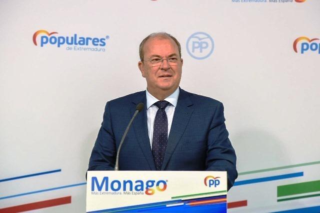 Monago pide al Gobierno de España un plan de empleo y que cumpla con las infraestructuras comprometidas