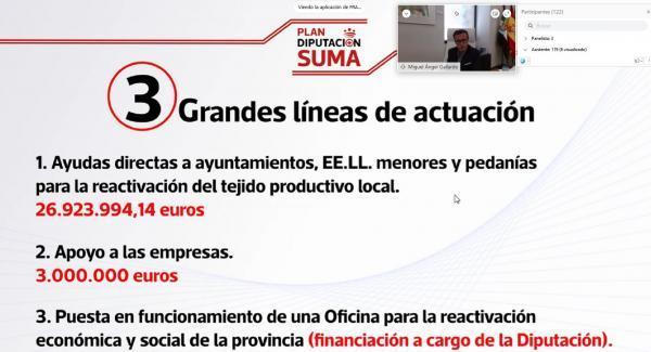 El presidente de la Diputación de Badajoz presenta a los alcaldes de la provincia los detalles del Plan Diputación Suma +