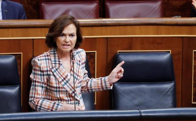 La vicepresidenta Carmen Calvo no descarta volver la estado de alarma si persisten los rebrotes