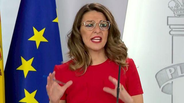 """Yolanda Díaz: El teletrabajo no puede salir gratis a las empresas: """"Haremos una lista de gastos que sí o sí tienen que acometer"""""""