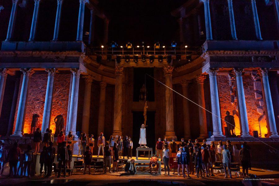 Antígona inicia la 66ª edición del festival de Mérida con la presencia de los reyes de España