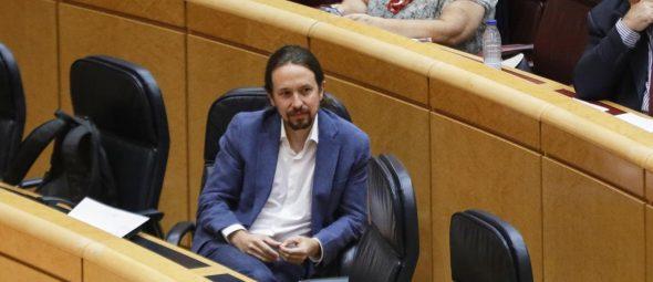 Pablo Iglesias defiende su condición de víctima en la pieza Dina del caso Villarejo