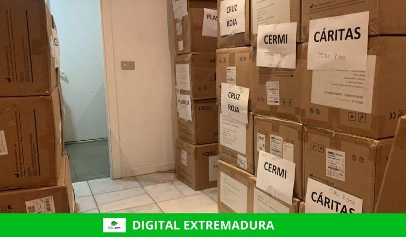 338.000 mascarillas enviadas por el Gobierno se repartirán en Cáceres y Badajoz