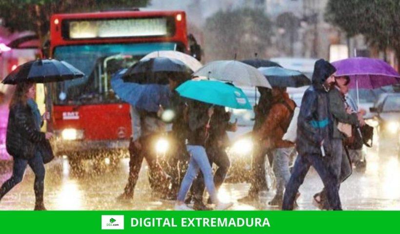 Alerta naranja por lluvias en el norte de la provincia de Cáceres