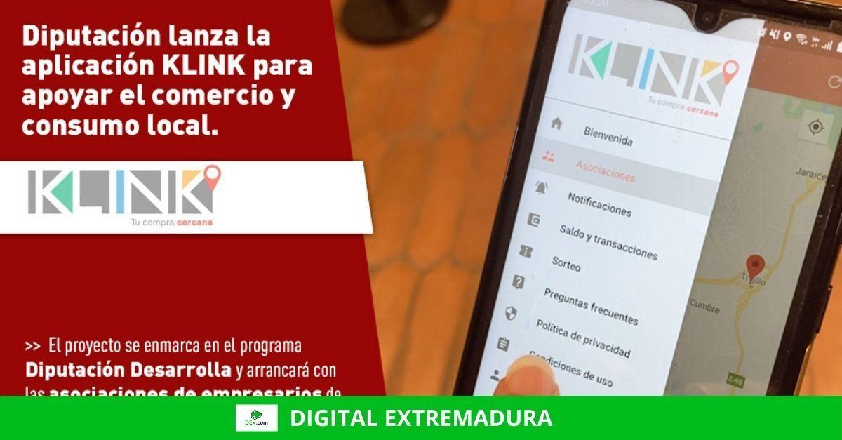 La Diputación de Cáceres lanza la aplicación KLINK para apoyar el comercio y el consumo local